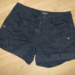White House Black Market Black Cargo Shorts Size 8